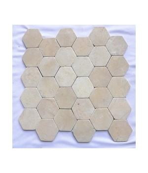 Marmer Hexagon Mosaics
